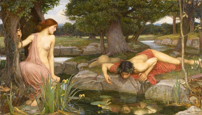 Echo and Narcissus by John William Waterhouse, 1903